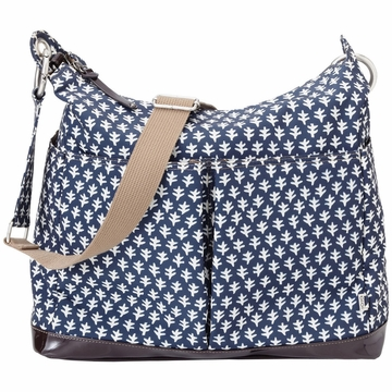 OiOi Monaco Navy Mini Geo Hobo Diaper Bag