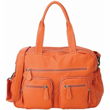 OiOi Orange Buffalo Carry All Diaper Bag