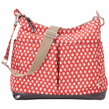 OiOi Poppy Red Mini Geo Hobo Diaper Bag
