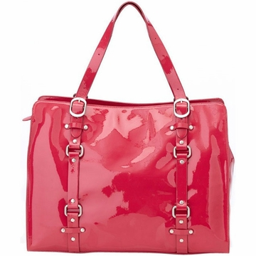 OiOi Rose Patent Leather Tote Diaper Bag