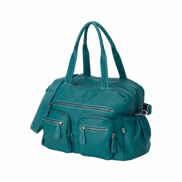 OiOi Turquoise Buffalo Carry All Diaper Bag