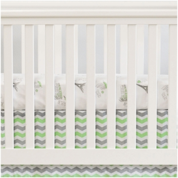 Oliver B City of Dreams 2 Piece Crib Bedding Set in Mint, Grey & White