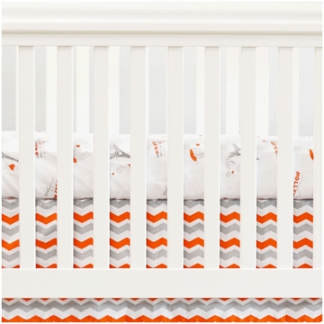 Oliver B City of Dreams 2 Piece Crib Bedding Set in Orange, Grey & White