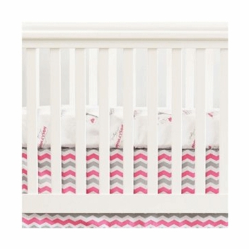 Oliver B City of Dreams 2 Piece Crib Bedding Set in Pink, Grey & White