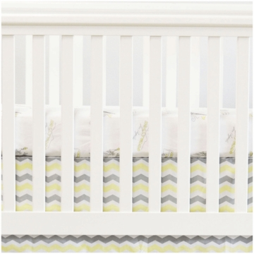 Oliver B City of Dreams 2 Piece Crib Bedding Set in Yellow, Grey & White