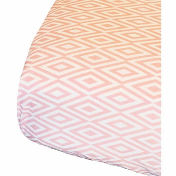 Oliver B Diamond Crib Sheet in White & Pink