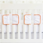 Oliver B Velcro Ventilated Slat 20 Pack Bumpers in Orange & White