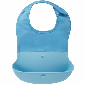 OXO Tot Roll Up Bib - Aqua
