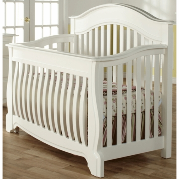 Pali Bergamo Crib in White