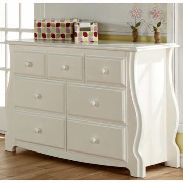 Pali Bergamo Double Dresser in White