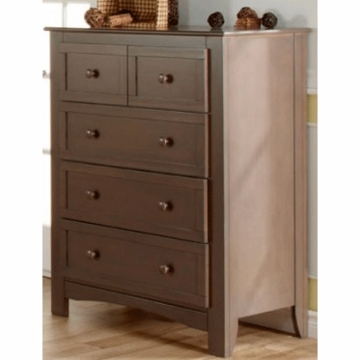 Pali Bolzano 5 Drawer Dresser in Earth