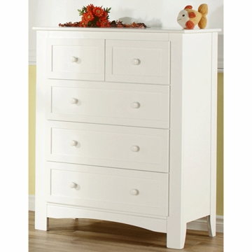 Pali Bolzano 5 Drawer Dresser in White