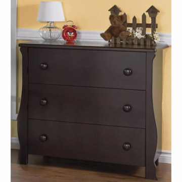 Pali Carina 3 Drawer Dresser in Mocacchino