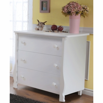 Pali Carina 3 Drawer Dresser in White