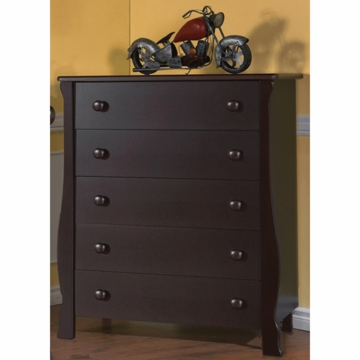 Pali Carina 5 Drawer Dresser in Mocacchino