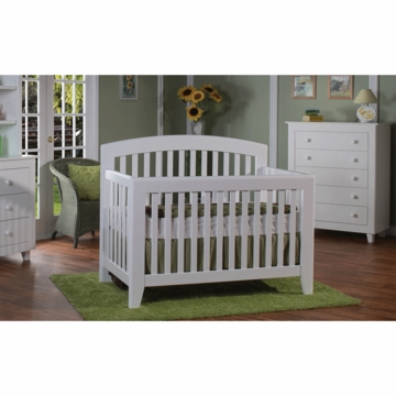 Pali Gala 3 Piece Nursery Set in White - Forever Crib, Double Dresser & 5 Drawer Dresser