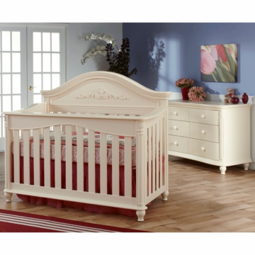 Pali Gardena 2 Piece Nursery Set in Dream - Forever Crib & Double Dresser