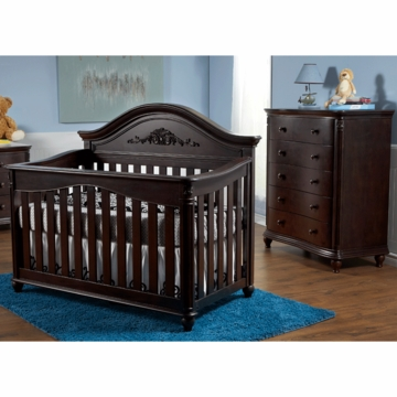Pali Gardena 2 Piece Nursery Set in Mocacchino - Forever Crib & 5 Drawer Dresser