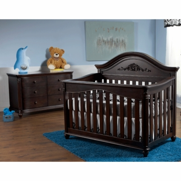 Pali Gardena 2 Piece Nursery Set in Mocacchino - Forever Crib & Double Dresser