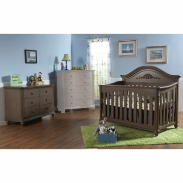 Pali Gardena 2 Piece Nursery Set in Slate - Forever Crib & Double Dresser