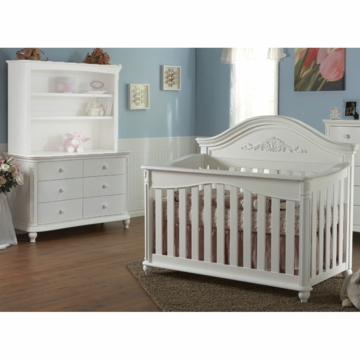 Pali Gardena 2 Piece Nursery Set in White - Forever Crib & Double Dresser