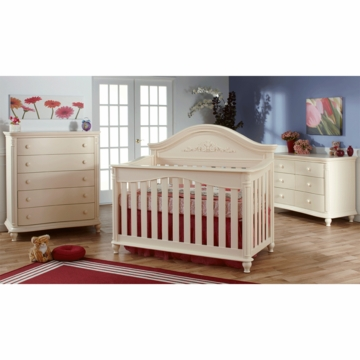 Pali Gardena 3 Piece Nursery Set in Dream - Forever Crib, Double Dresser & 5 Drawer Dresser
