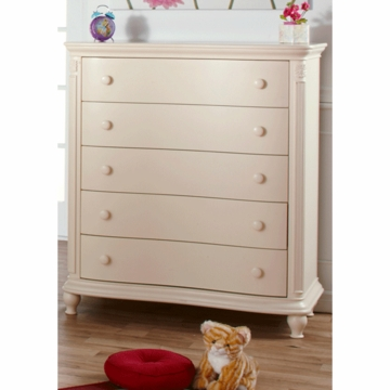 Pali Gardena 5 Drawer Dresser in Dream