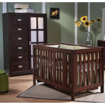 Pali Imperia 2 Piece Nursery Set in Mocacchino - Forever Crib & Armoire
