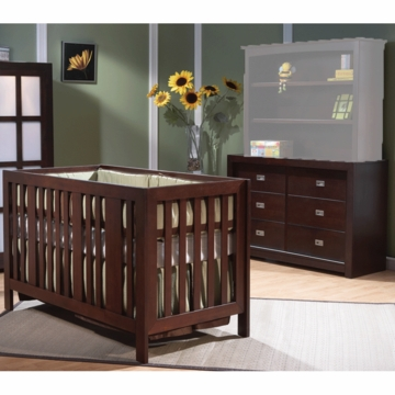 Pali Imperia 2 Piece Nursery Set in Mocacchino - Forever Crib & Double Dresser