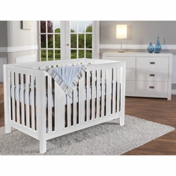 Pali Imperia 2 Piece Nursery Set in White - Forever Crib & Double Dresser