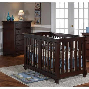 Pali Lucca 2 Piece Nursery Set in Mocacchino - Crib & 5 Drawer Dresser