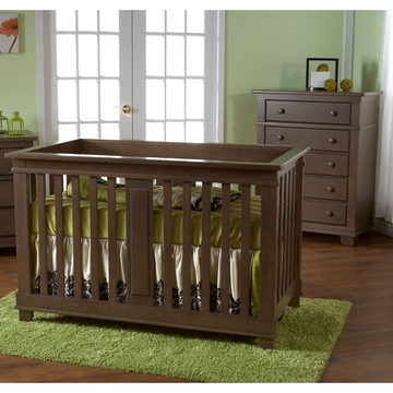Pali Lucca 2 Piece Nursery Set in Slate - Crib & 5 Drawer Dresser