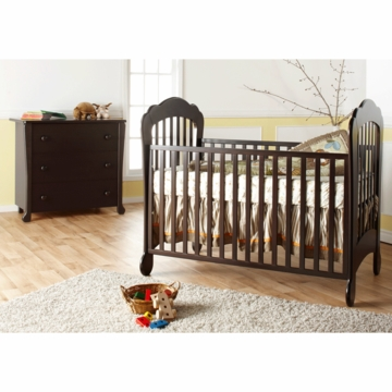 Pali Manon 2 Piece Nursery Set in Mocacchino - Crib & 3 Drawer Dresser