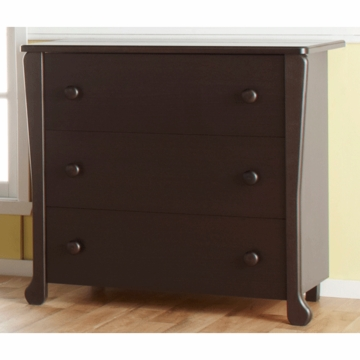 Pali Manon 3 Drawer Dresser in Mocacchino