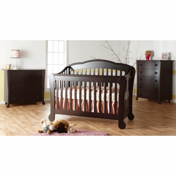 Pali Manon 3 Piece Nursery Set in Mocacchino - Forever Crib, 3 Drawer Dresser & 5 Drawer Dresser