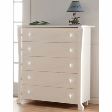 Pali Manon 5 Drawer Dresser in White
