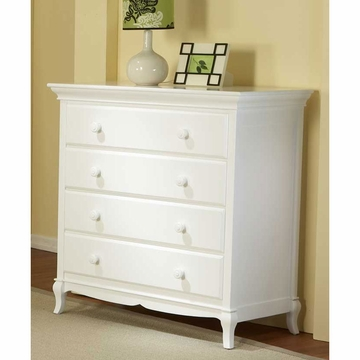 Pali Mantova Series 4 Drawer Dresser in White