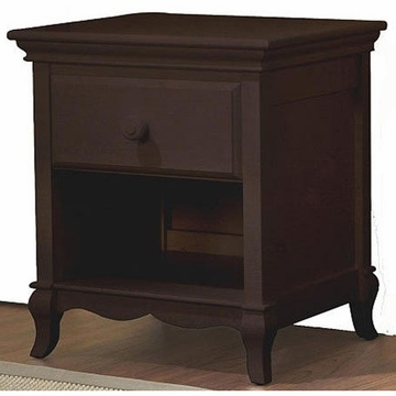 Pali Mantova Series Nightstand in Chocolate