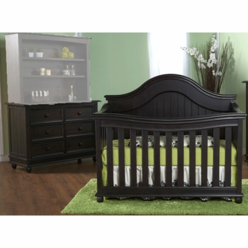 Pali Marina 2 Piece Nursery Set in Onyx - Forever Crib & Double Dresser
