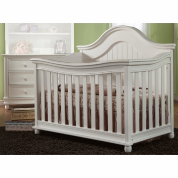 Pali Marina 2 Piece Nursery Set in White - Forever Crib & Double Dresser