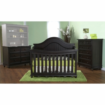 Pali Marina 3 Piece Nursery Set in Onyx - Forever Crib, Double Dresser & 5 Drawer Dresser