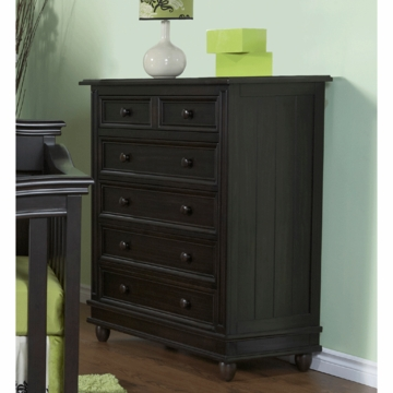 Pali Marina 5 Drawer Dresser in Onyx