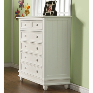 Pali Marina 5 Drawer Dresser in White