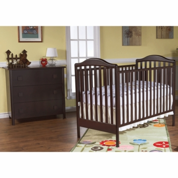 Pali Norma 2 Piece Nursery Set in Mocacchino - Crib & 3 Drawer Dresser