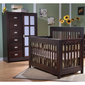 Pali Novara 2 Piece Nursery Set in Mocacchino - Forever Crib & Armoire