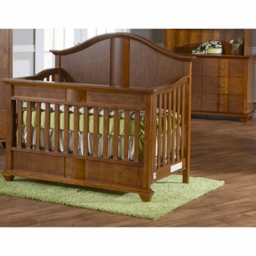 Pali Onda 2 Piece Nursery Set in Walnut - Forever Crib & Double Dresser