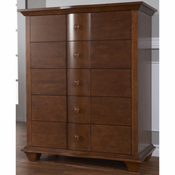Pali Onda 5 Drawer Dresser in Walnut