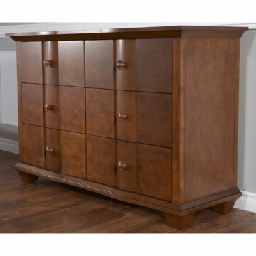 Pali Onda Double Dresser in Walnut