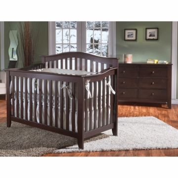 Pali Salerno 2 Piece Crib Set in Mocacchino - Forever Crib & Double Dresser
