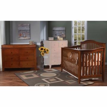 Pali Salerno 2 Piece Crib Set in Sienna - Forever Crib & Double Dresser